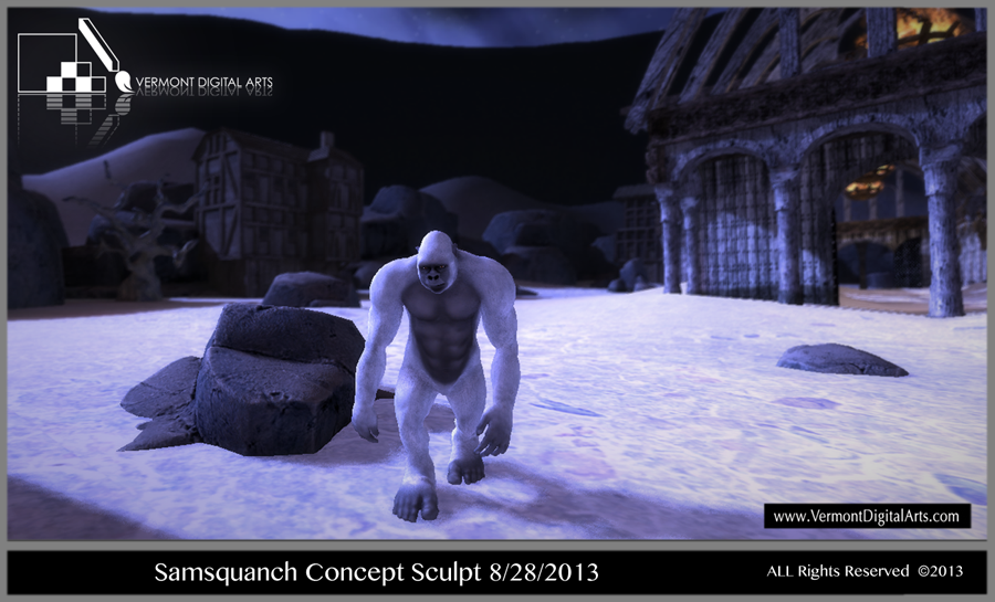 Samsquanch Concept Sculpt for Unite 2013